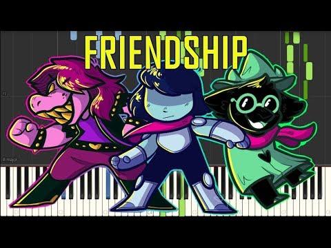 Friendship - Deltarune (Undertale Spin-Off) [Synthesia Piano Tutorial]