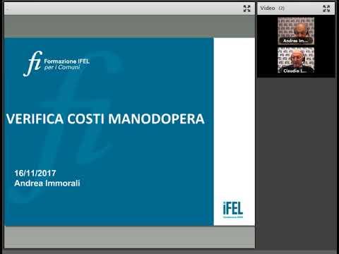 16 11 2017 la stima e la verifica del costo del lavoro for Stima del costo portico