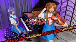 Neon Genesis Evangelion「A Cruel Angel's Thesis」| When Rei and Asuka playing Piano & Violin