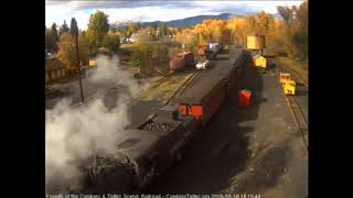 10/18/2018 A 9 car train 215 arrives into Chama, NM
