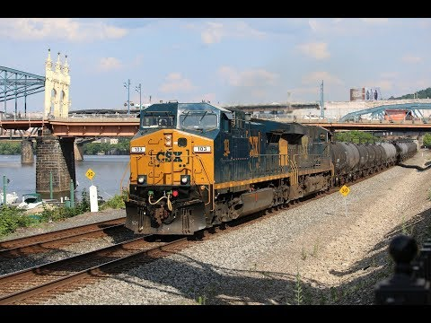 Railfanning Station Square, Pittsburgh, PA 6/12&13/2017 WITH SD40-2 Leader & Much More!