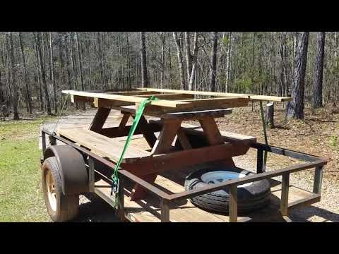 how to haul a truck bed on a trailer