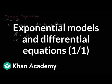 Modeling population with simple differential equation | Khan Academy