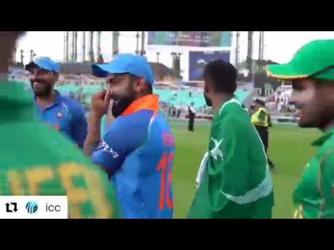 Omg very hard to digest India Pakistan players off the field Super Sportsmanship
