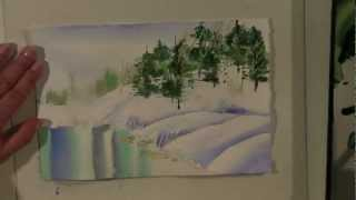 Preview Watercolor for Beginners (Episode 14): Winter Pond and Pines with Jan Fabian Wallake