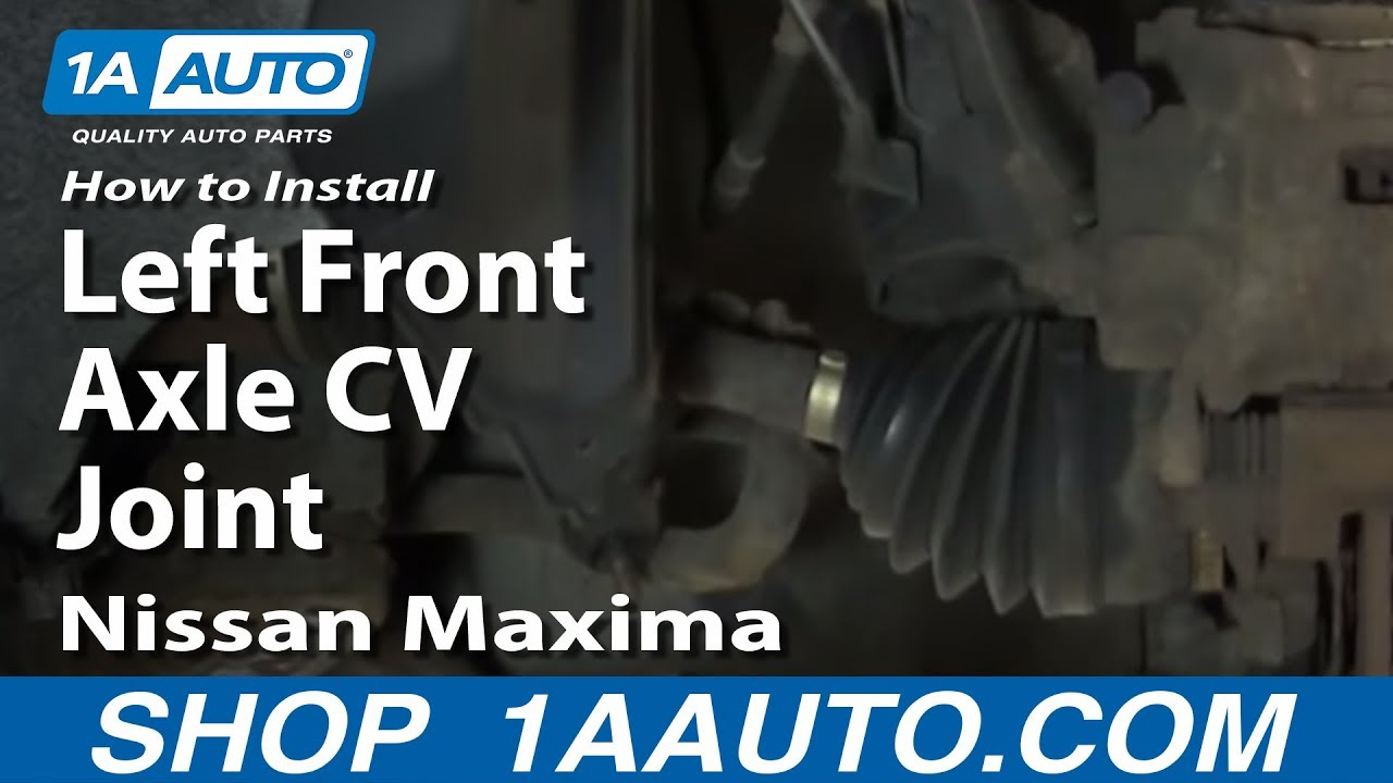 how to install replace left front axle cv joint 2002