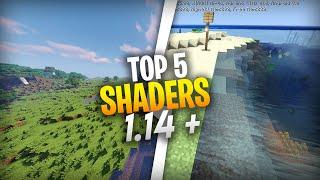 NEW! TOP 5 SHADERS REALISTIS MCPE 1.14+ !! RAM 2GB NO LAG!