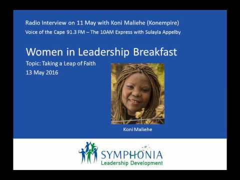 Voice of the Cape radio interview 11 May 2016: Koni Maliehe