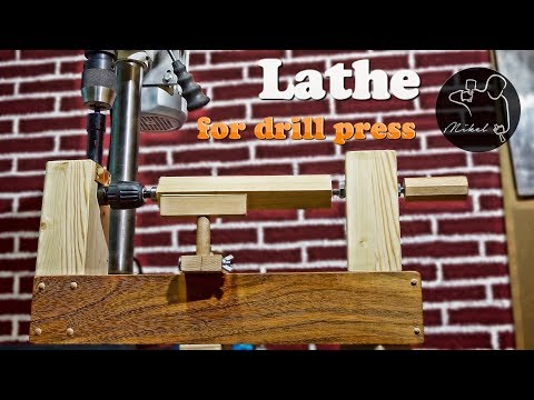 Homemade lathe for drill press, How to make