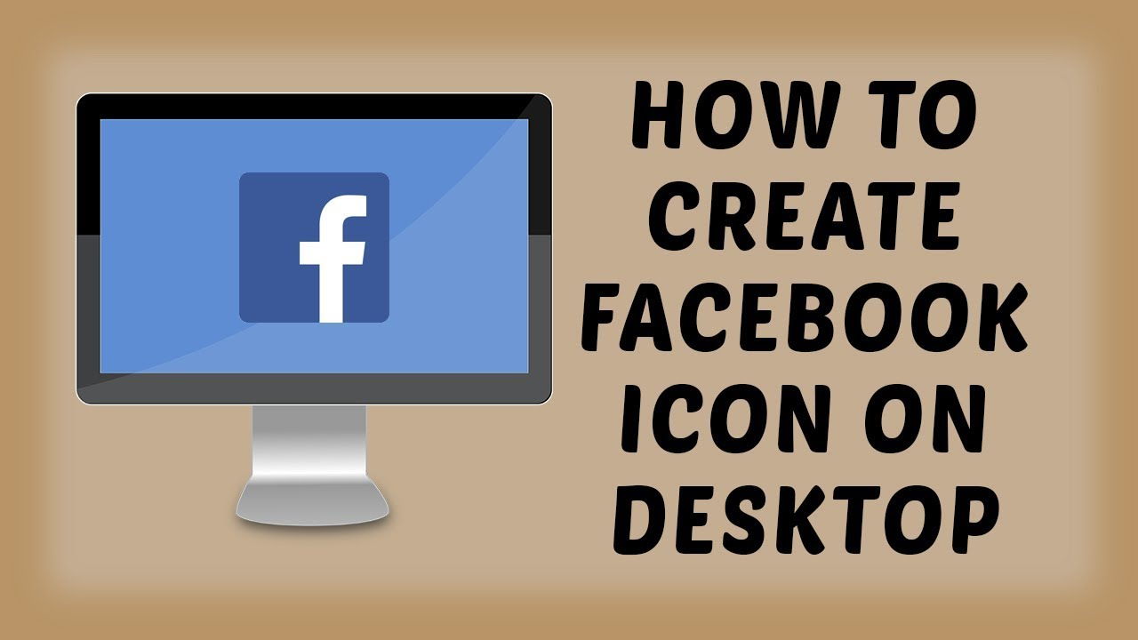 how to create facebook icon on desktop facebook