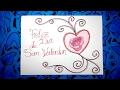 Dibujos para San Valentin 3/3 - Dibujar un corazón con letras