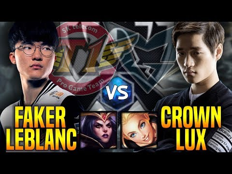 SKT T1 Faker Leblanc vs SSG Crown Lux - Faker is Ready to Beat Crown in New Season! | SKT T1 Replays