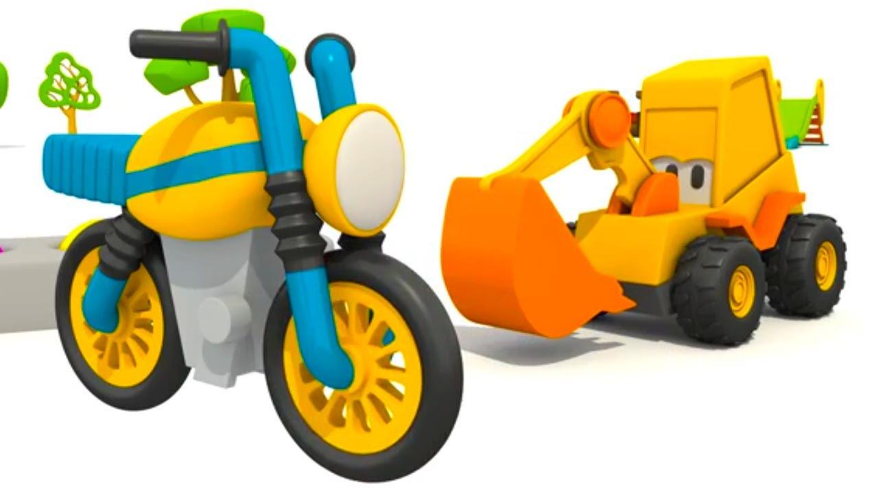 max der bagger baut ein motorrad cartoon f r kinder youtube. Black Bedroom Furniture Sets. Home Design Ideas