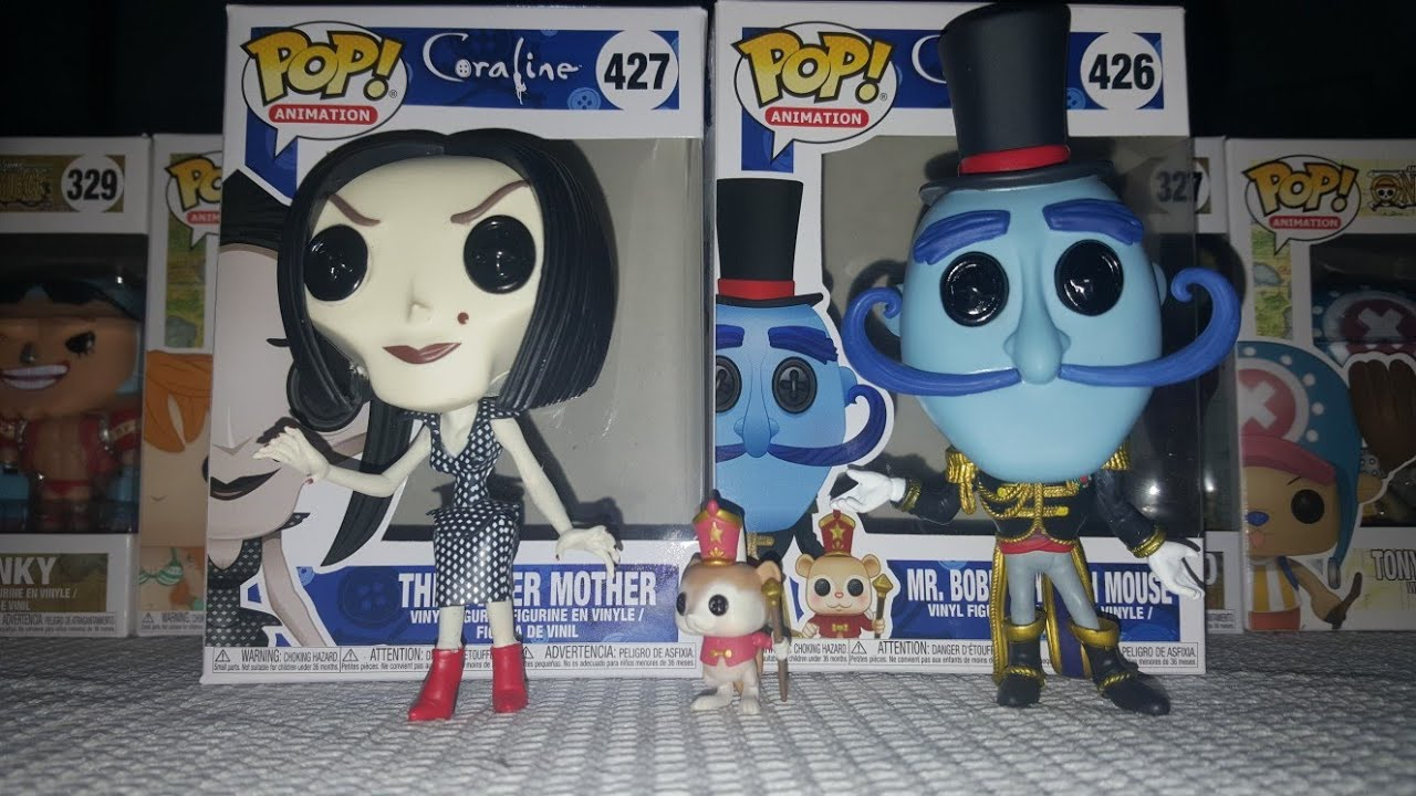 Funko Pop Coraline The Other Mother Mr Bobinsky With Mouse Youtube