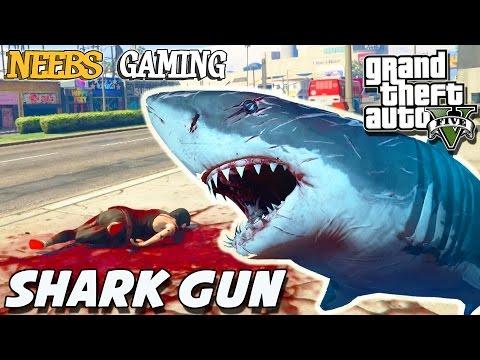 GTA 5 - SHARK GUN MOD / WEIRD GLITCHES (Grand Theft Auto Gameplay Video)