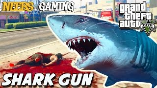 GTA 5 - SHARK GUN MOD / WEIRD GLITCHES (Grand Theft Auto Gameplay Video)