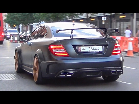 Loud Arab Mercedes C63 Black Series w/MHP Exhaust! - supercar zings