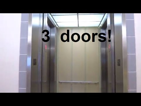 THREE DOORS!!!!! ThyssenKrupp Hydraulic Elevator at Benedict Hall UT Austin TX. : three doors - pezcame.com