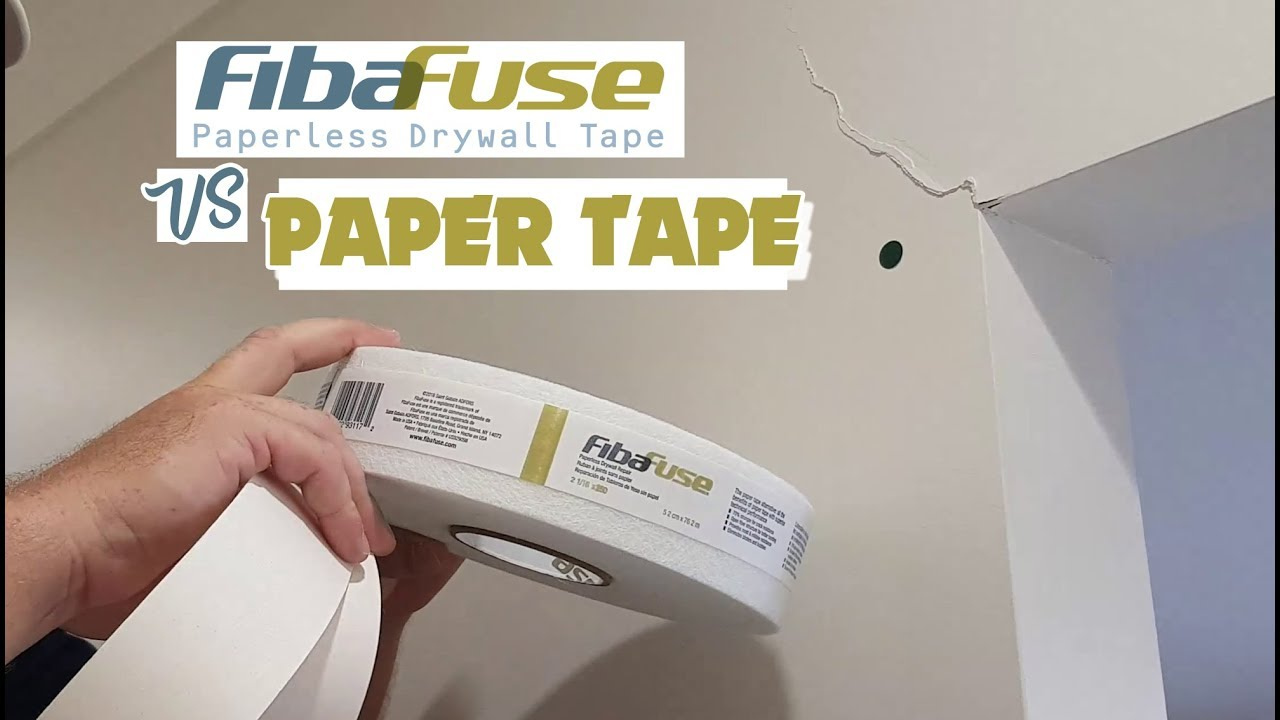 Drywall Paper Tape What Is Stronger To Tape Drywall With Fibafuse Vs Paper Tape