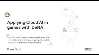 Die Anwendung AI in Games mit DeNA (GDC '19)