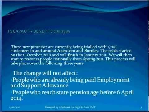 DWP U K Incapacity Benefit Changes a brief explanation
