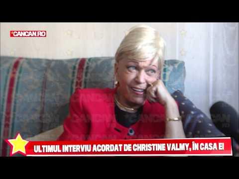 Ultimele imagini filmate cu Christine Valmy la ea acasa!