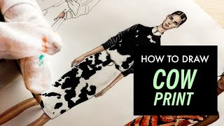 COW PRINT DRAWING TUTORIAL. Givenchy | Fashion Drawing