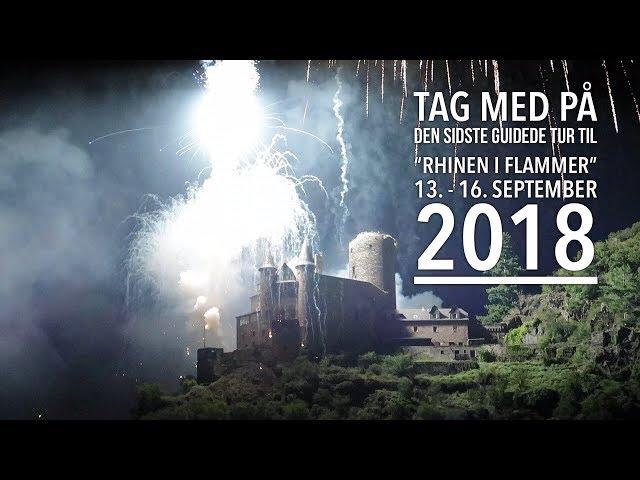 Rhinen i flammer 13.-16.  september 2018 (10 års Jubilæumstur og sidste tur)
