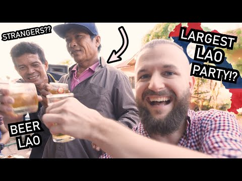Vientiane LAOS Boat Racing FESTIVAL - PARTY With LOCALS