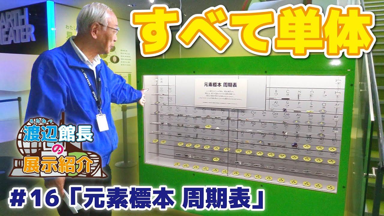 【館長の展示紹介#16】元素標本 周期表