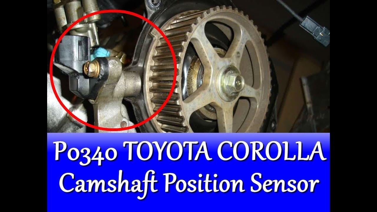 small resolution of p0340 toyota corolla camshaft position sensor circuit malfunction