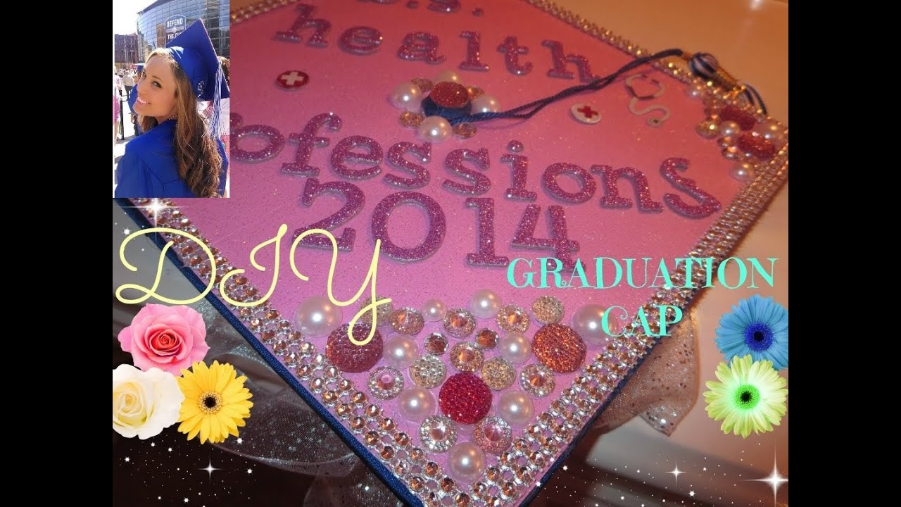 How To Decorate A Graduation Cap Tutorial!!* - YouTube