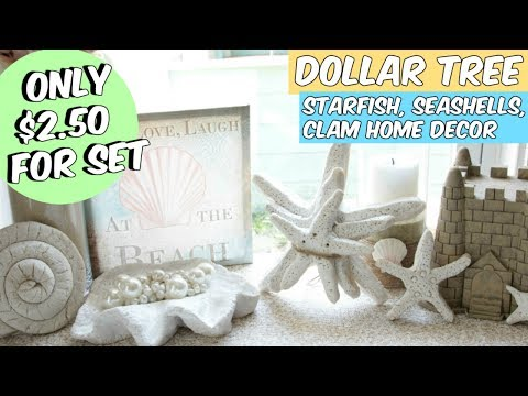 DOLLAR TREE STARFISH, SEASHELL AND CLAM BEACH DECOR