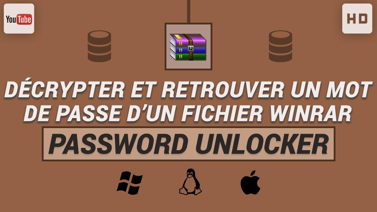 Décrypter et retrouver un mot de passe d'un fichier WinRAR
