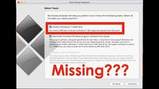 Al ''Windows 7 disk Boot Camp asistanını'' seçeneği yükleyin Oluşturun