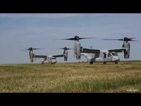 First deployment of US Marine Corps MV-22B Ospreys to Romania in support of multilateral exercises