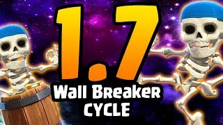 THE FASTEST WALL BREAKER CYCLE DECK EVER! 1.7 ELIXIR! - Clash Royale