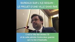 Intervention sur le projet de bureaux sur l'Ile Seguin à Boulogne-Billancourt