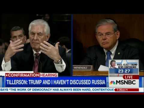 MSNBC Live Senator Bob Menendez grills Rex Tillerson on Russia