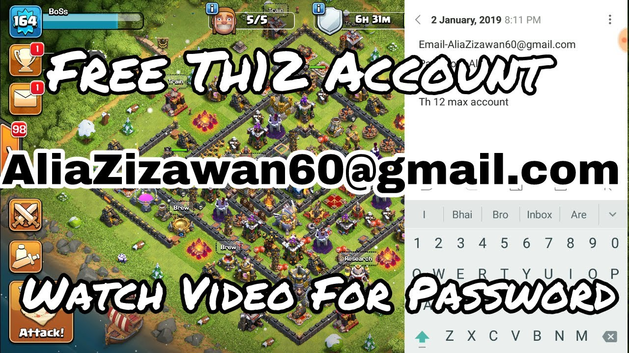 account clash of clans free 2019