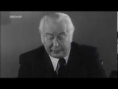 Ausschnitt Fernsehansprache Theodor Heuss 1952