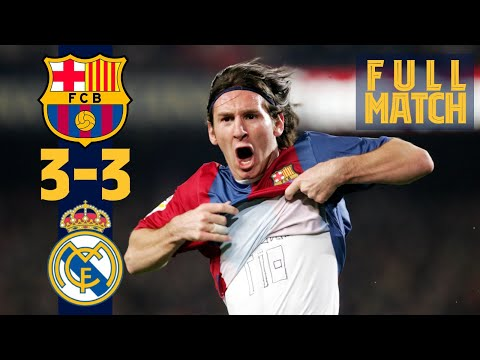 FULL MATCH: BARÇA 3-3 REAL MADRID (Messi's first hat-trick in the Clásico!)