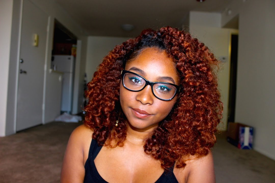 Fluffy Braid Out | Colored Treated Natural Hair - YouTube