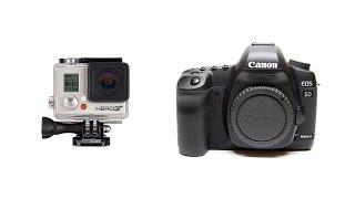 Сравнение видео GoPro Hero 3+ Black Edition VS Canon 5d Mark II(Сравнение этих двух камер в видеорежиме. На марке различные объективы, все настройки ручные. На GoPro всё на..., 2014-11-20T13:03:36.000Z)