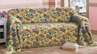 видео Из какой ткани выбрать покрывало на диван, как сшить покрывало на угловой диван