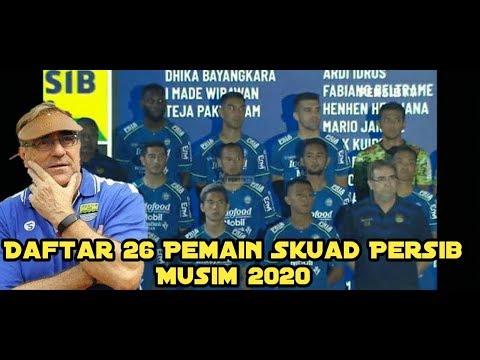 Done 🔵 Daftar 26 Pemain Skuad Resmi Persib Bandung Musim 2020!! 🔥