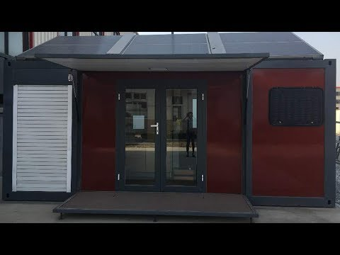 Weizhengheng expandable flat pack prefab module container house with solar energy