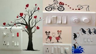 Switchboard Painting Design Ideas | Light Switchboard Decorations | Switch Socket Art