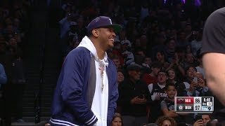 Carmelo Anthony Fakes Out Barclays Center At Dwyane Wade's Final Game | April 10, 2019