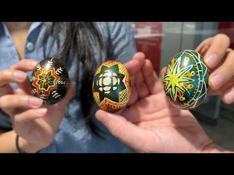 How To Make Pysanky Eggs | Ben And Althea Make Ukrainian Easter Eggs